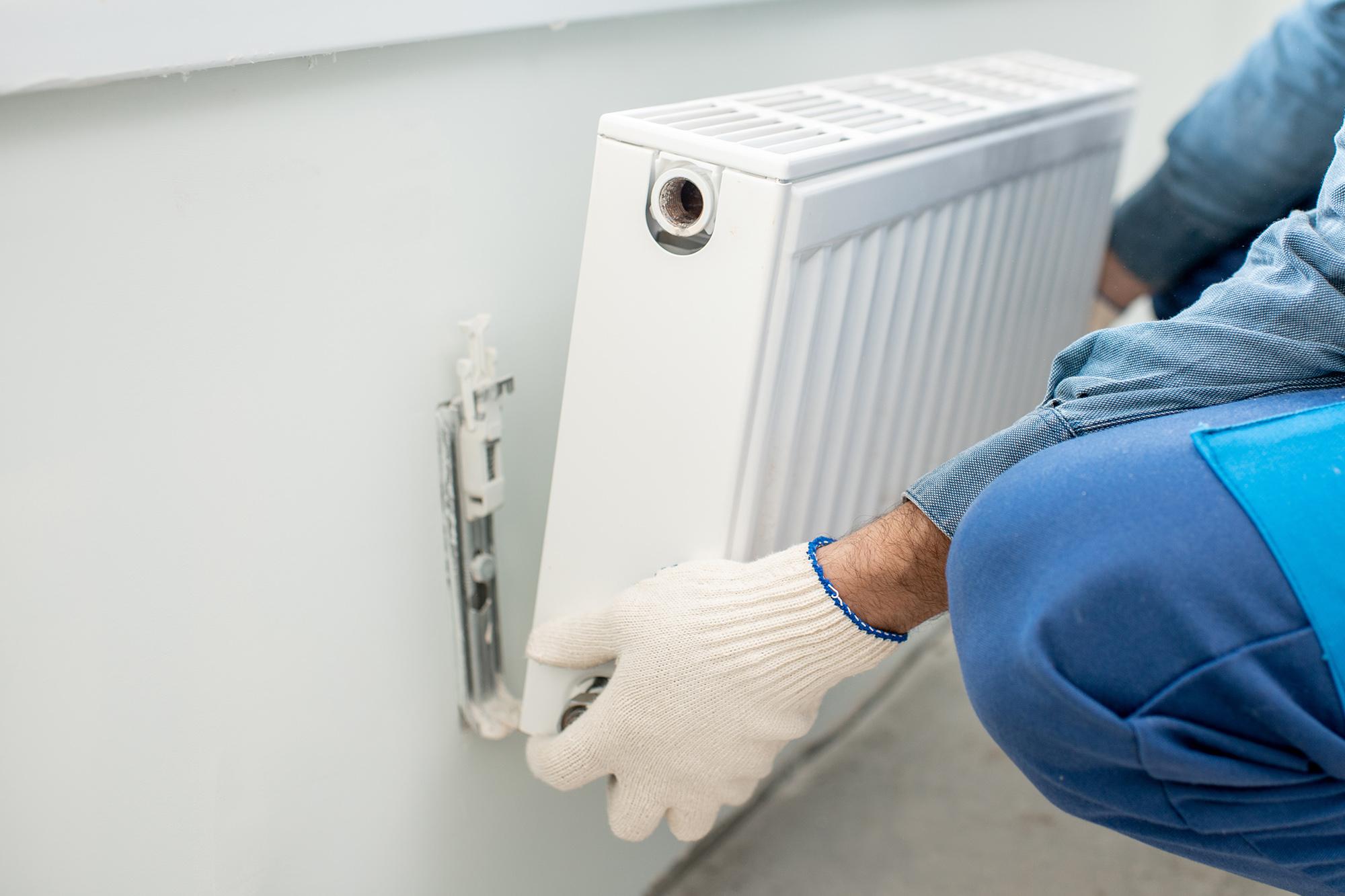 Removing radiators to dectorate