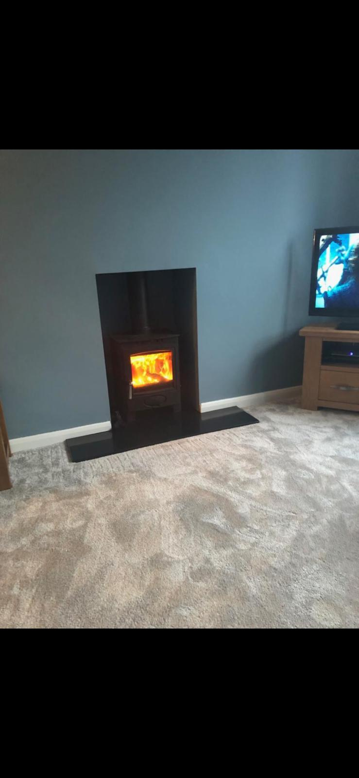 new multifuel wood-burning stove installation by Parkstone Yorkshire