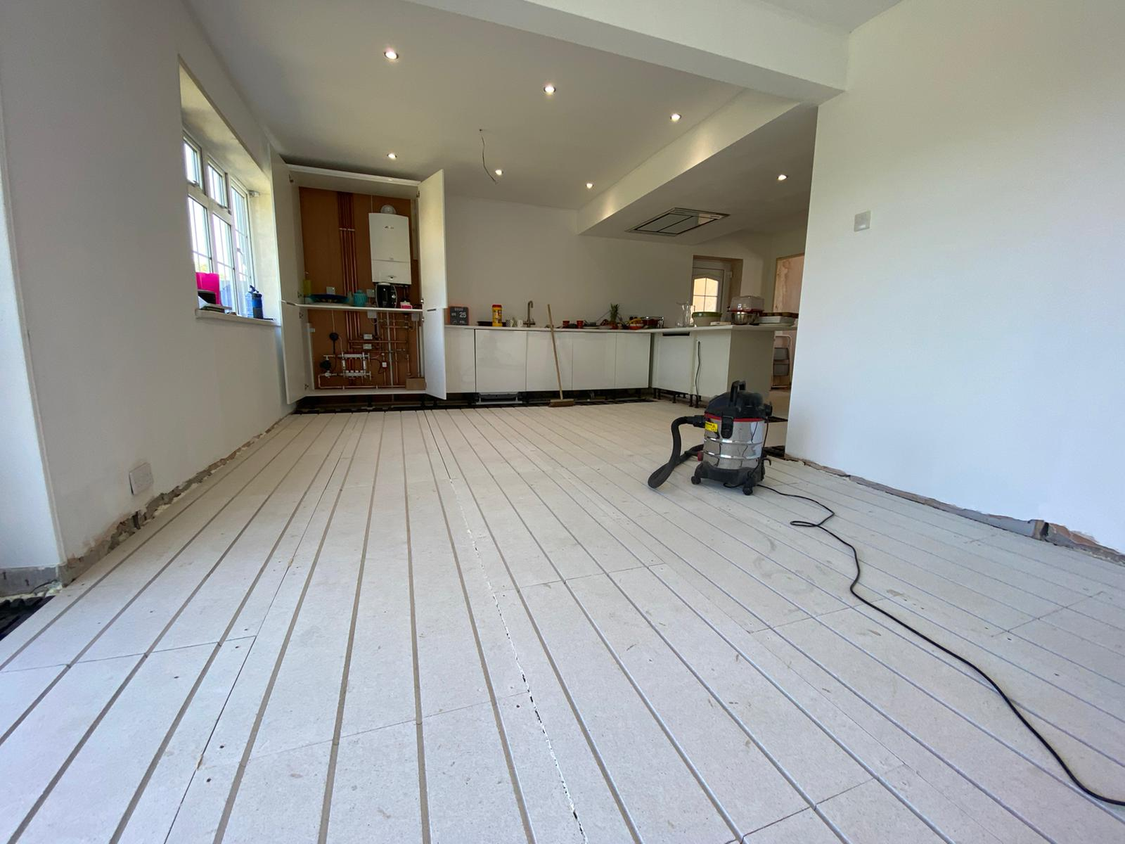 Solfex retro-fit underfloor heating and boiler installation by Parkstone Yorkshire