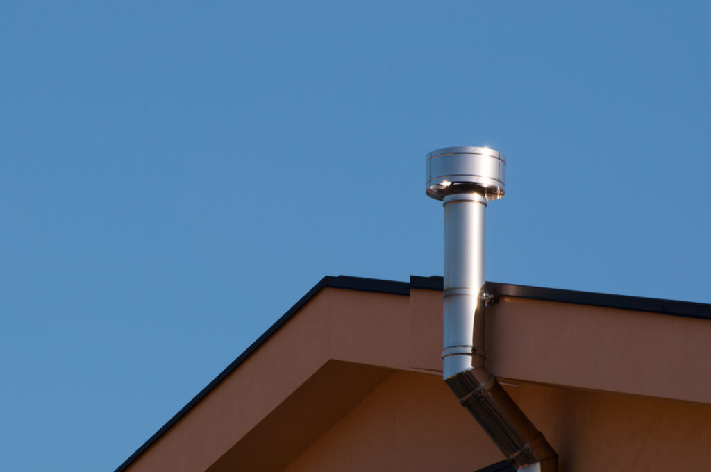 flues and chinmeys attached to house