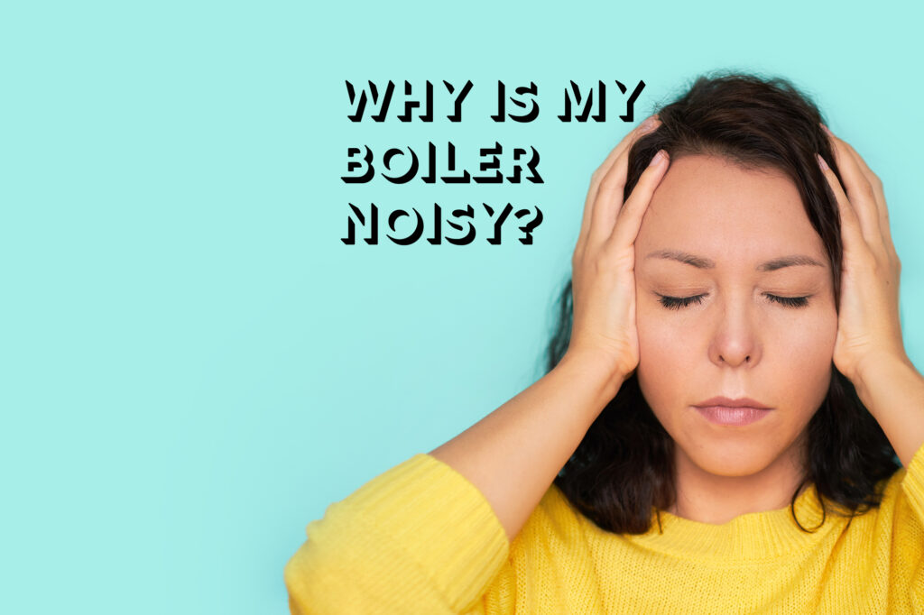 boiler noisy woman holding hands over ears