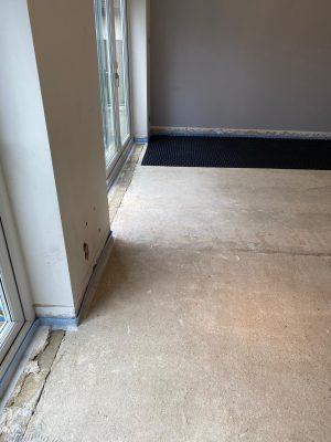 Nuheat LoPro Max clean and prepare floor
