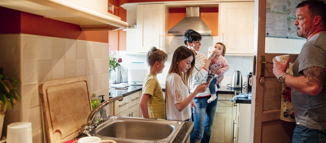 Quality kitchen heating allows a family to spend time together cooking