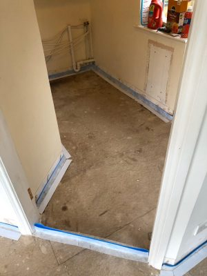 Protection of skirting boarda and doorways before installing nu-heat underfloor heating