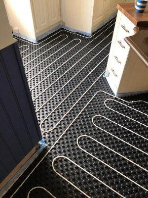 nu-heat underfloor heating can negotiate tight spaces for even distribution of heat