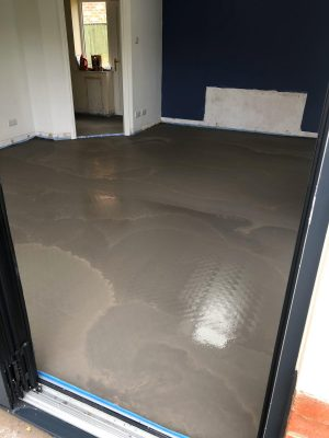 nu-heat underfloor heating screed as part of renovation project