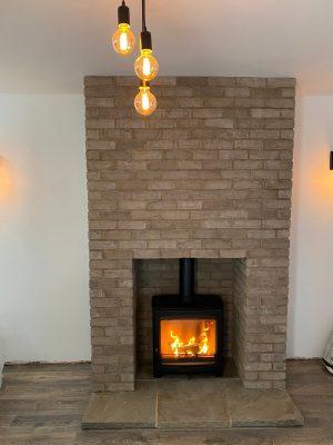 Finished project installing Aspect 8 Slimline SE Woodburning Stove