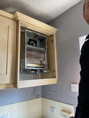 Boiler and cylinder upgrade old baxi system boiler removal