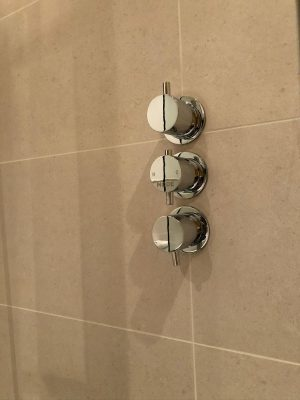 Bathroom renovation concealed shower controls