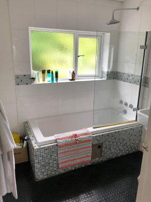 Bathroom renovation before work started