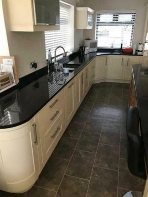 kitchen to bedroom conversion old kitchen view of window wall long granite work surface