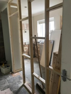 kitchen to bedroom conversion dividing stud wall