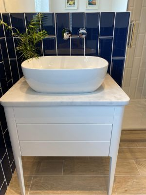 kitchen to bedroom conversion basin on granite top table
