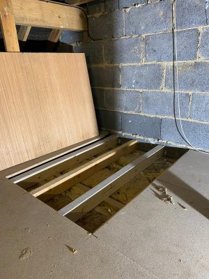 strengthening of floor before installing unvented hot water cylinder in loft space
